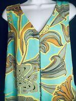 Biba Ladies Celtic  Floral Shift Dress Size 12 ( A2 )