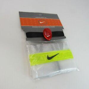 Nike Running Safety Set NEW Reflective Vest Multi Flash Light Clip & Armband