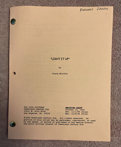MOVIE SCRIPT - LIGHT IT UP - SHOOTING SCRIPT DRAFT -  PINK PAGES - REVIEW ISSUE