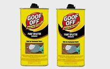 2~ Goof Off Paint SPLATTER REMOVER Safe On Hardwood Floors 1 Min 12 oz. FG900