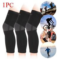 Elastic Knee Pad Wrap Support Brace Arthritis Injury Long Sleeve Protector GU