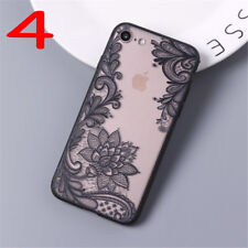 For iPhone 6S 6 7 8 Plus X 3D Lace Flower Soft Clear Phone Case Cover Protection