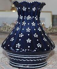 Gmundner Keramik Vase, blau geblumt, gebraucht