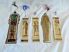 4 Egyptian Papyrus Paper Pharaoh Set Bookmarks High Quality