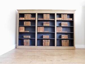 Vintage triple bookcase