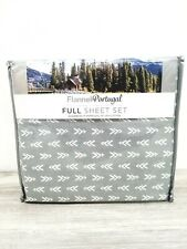 FLANNEL FROM PORTUGAL FULL SHEET SET .NWT