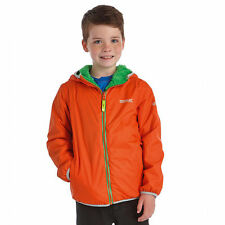 REGATTA LAGOONA KIDS REVERSIBLE JACKET FLEECE BACKED WATERPROOF GIRLS BOYS COAT