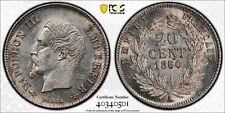 1860/50-A France 20 Centimes PCGS AU58