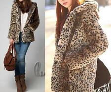 Women's Solid Faux Fur Basic Coats