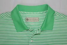 Donald Ross Men's Xl All Polyester Green Striped Mystic Rock Polo Golf Shirt