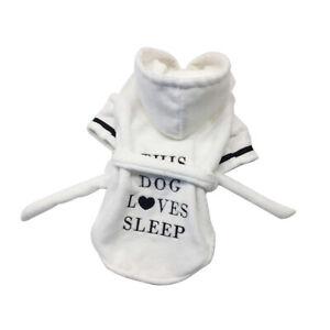Pet Cat Dog Animal Pet bathrobe Towel Bath Robe Dressing Gown Pajamas XS-XL