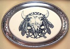 Belt Buckle Barlow Photo Reproduction Indian Shield Western Silver 592419 n NEW