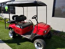 2005 Red EZGO ST350 Gas 4 Passenger flip Seat Golf Car custom Cart