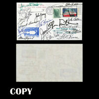 USA 1968 APOLLO 6 COVER SIGNED 18 ASTRONAUTAS INCLUDED ALAN SHEPARD  COPY