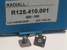 4 HOLE CHASSIS MOUNT SMA FEMALE FLAT BACK RADIALL R125.410.001            fd5e32