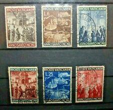 FRANCOBOLLI VATICANO 1949 ANNO SANTO TIMBRATI USED LOT (C.Y)