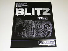 *NEW HPI BLITZ Manual & Parts Guide Brushed HZ0E