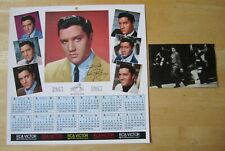 (2) Original Bonus Photo inserts from Elvis LP's, 1956 photo & 1963 Calendar