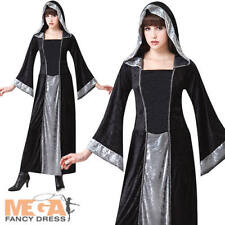 Vampiro Gótico Damas Vestido Elaborado Disfraz Halloween Bata Atuendo Oscuro Adultos