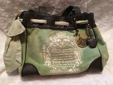 Juicy Couture Light Green Velour Satchel Handbag