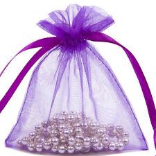 Premium Purple Organza Wine Bottle Gift Pouch Bag 15x43cm