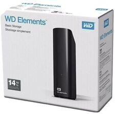 New Sealed WD Elements 14TB External Desktop USB 3.0 Hard Drive HDD Fast B U