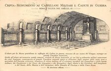 1593) ROMA, CRIPTA MONUMENTO AI CAPPELLANI MILITARI MORTI IN GUERRA. VIAGGIATA.