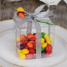 "Lot of 62 Clear Plastic Box PVC Wedding party Favors Gift candy boxes  2""x2""x2"""