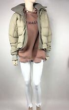 Winter Damen Warme Steppjacke Mit Kapuze Kurze Winter Jacke Größe  S 36 Khaki
