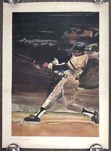 Reggie Jackson Signed Litho 23x31 LE Baseball Autograph Yankees HOF 93 Inscr JSA