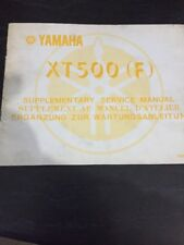 Yamaha XT500 1979 Supplementary Service Manual