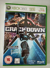 X1055-VIDEOJUEGO XBOX 360 PAL Crackdown MANUAL INGLES