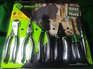 GREENLEE 0159-36 General Hand Tool Kit,No. of Pcs. 6