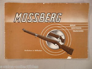 Mossberg CATALOG - circa 1938 - with Price List ~~ shotgun, rifle, teleescopes