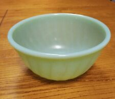 "Vintage Oven Ware Fire King Jadeite Swirl 6"" Bowl Bright Green"