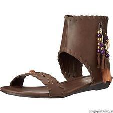 VERY VOLATILE ~ New! NIB Size 8 ~ BOHO Beaded TASSEL VEGAN Leather Sandals