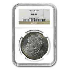 1881-S Morgan Dollar MS-64 NGC - SKU #7525