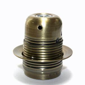 Steel Antique Finish ES/E27 Edison Screw Lampholder Shade Ring 10mm Entry