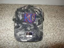 NWT Kansas Jayhawks Camo Womens NCAA Basketball Hat Cap Adidas Snapback Black