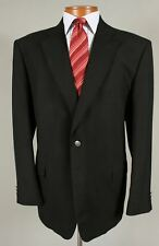 Stafford 50L Big Mens Black Wool Blend Nickel Button Blazer Sport Coat 145C