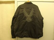 "Preowned Men's Harley Davidson Reversible Jacket ""Black & Gray"" Size XXL"