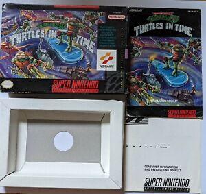 Teenage Mutant Ninja Turtles IV: Turtles in Time SNES ( Box and Manual ONLY)