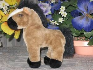 Dutch Holland Stuffed Brown & Black Plush Horse