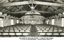 Postcard Missouri Lake of the Ozarks Our Lady of Lake Chapel RPPC 1956