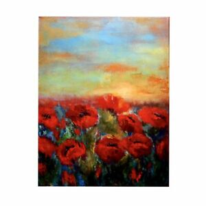 """ACEO ATC Artist Trading Cards Fine Art Print + Multiple Sizes """"Red Poppy Field"""""""
