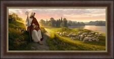 Simon Dewey DEAR TO THE HEART OF THE SHEPHERD 29x56 framed canvas giclee Jesus