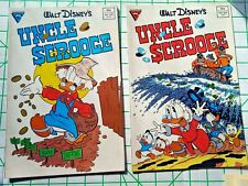 2 GLADSTONE COMICS/DISNEY UNCLE SCROOGE #220 #224 1987/VG-/BAGGED/FREE SHIP