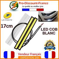 Feux de Jour LED COB 17cm Blanc Xénon 6W 12V Camion Quad Barre Veilleuse