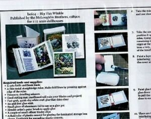 1:12 Paper Mini Dollhouse size Book Kits ~ Rip Van Winkle ~ Fun Story!