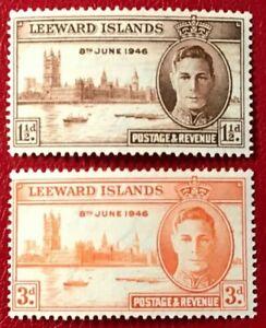LEEWARD ISLANDS Sc#116-117 Mint NH OG VF (10-172)